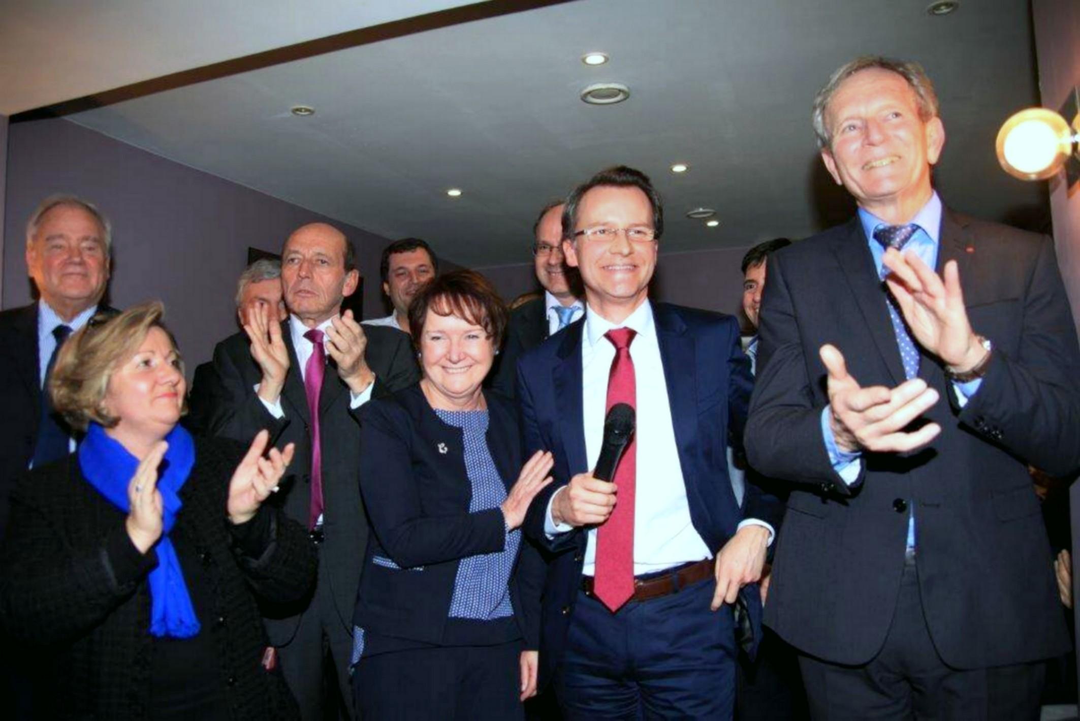 Hervé Gicquel et Chantal durand lancement de campagne charenton saint-maurice